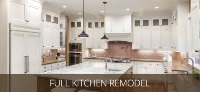 a remodeled kitchen with stone countertops